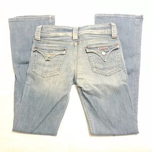 Hudson light wash bootcut jeans size 30